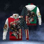 Mexico - United States Eagle All Over Print Neck Gaiter Hoodie