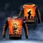 New Zealand Army Lest We Forget Poppy All Over Print Hoodies