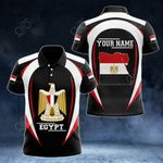 Customize Egypt Map & Coat Of Arms All Over Print Polo Shirt