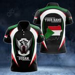 Customize Sudan Map & Coat Of Arms All Over Print Polo Shirt