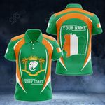 Customize Ivory Coast Map & Coat Of Arms All Over Print Polo Shirt