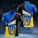 Ukraine Flag- New Form All Over Print Polo Shirt