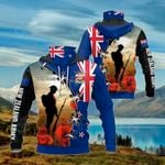 Customize New Zealand Army Symbol All Over Print Neck Gaiter Hoodie