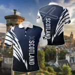 Scotland Flag All Over Print Polo Shirt