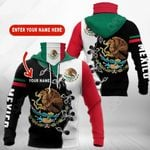 Customize Mexico Coat Of Arms V2 All Over Print Neck Gaiter Hoodie