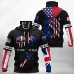 America My Home New Zealand My Blood All Over Print Neck Gaiter Hoodie