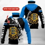 Customize Estonia Coat Of Arms All Over Print Neck Gaiter Hoodie