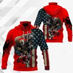 Albania - United States Eagle All Over Print Neck Gaiter Hoodie
