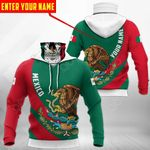 Customize Mexico Coat Of Arms - Skull All Over Print Neck Gaiter Hoodie