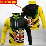 Customize Jamaica Coat Of Arms - Skull All Over Print Neck Gaiter Hoodie