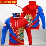 Customize Puerto Rico Coat Of Arms - Skull All Over Print Neck Gaiter Hoodie