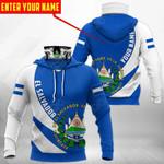 Customize El Salvador Coat Of Arms - Skull All Over Print Neck Gaiter Hoodie