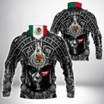 Mexico Aztec All Over Print Neck Gaiter Hoodie