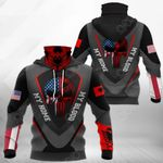 America My Home Albania My Blood - Skull Flag All Over Print Neck Gaiter Hoodie