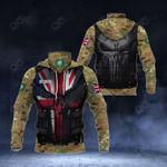 Customize British Royal Marines Camo - 3D Armor All Over Print Neck Gaiter Hoodie