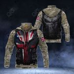 Customize British Army Camo - 3D Armor All Over Print Neck Gaiter Hoodie