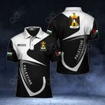 Customize Palestine Coat Of Arms All Over Print Polo Shirt