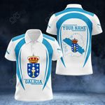 Customize Galicia Map & Coat Of Arms All Over Print Polo Shirt