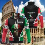 Customize Italy Skull Special All Over Print Neck Gaiter Hoodie