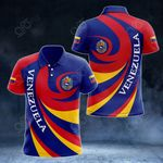 Venezuela Coat Of Arms - Whirlpool Style All Over Print Polo Shirt
