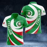 Italian Coat Of Arms - Whirlpool Style All Over Print Polo Shirt