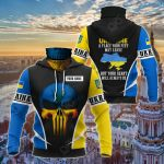 Customize Ukraine Skull Special All Over Print Neck Gaiter Hoodie