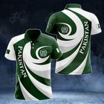 Pakistan Coat Of Arms - Whirlpool Style All Over Print Polo Shirt