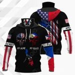 America My Home Philippines My Blood All Over Print Neck Gaiter Hoodie