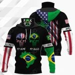 America My Home Brazil My Blood All Over Print Neck Gaiter Hoodie