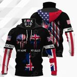 America My Home United Kingdom My Blood All Over Print Neck Gaiter Hoodie