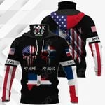 America My Home Dominican Republic My Blood All Over Print Neck Gaiter Hoodie