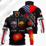 America My Home Macedonia My Blood All Over Print Neck Gaiter Hoodie