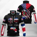 America My Home Costa Rica My Blood All Over Print Neck Gaiter Hoodie