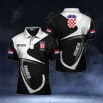 Customize Croatia Coat Of Arms & Flag All Over Print Polo Shirt