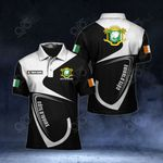 Customize Ivory Coast Coat Of Arms & Flag All Over Print Polo Shirt