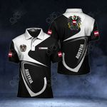 Customize Austria Coat Of Arms & Flag All Over Print Polo Shirt