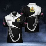 Customize United Kingdom Coat Of Arms & Flag All Over Print Polo Shirt