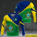 Customize Brazil Coat Of Arms Version All Over Print Hoodies