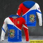 Customize Puerto Rico Coat Of Arms Version All Over Print Hoodies