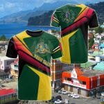 Customize Dominica Flag Independence Day All Over Print T-shirt