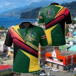 Dominica Flag Independence Day All Over Print Polo Shirt