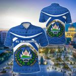 El Salvador Vibes Version All Over Print Polo Shirt