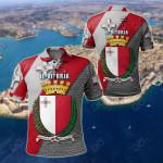 Malta IL - Vitorja - Malta Coat Of Arm All Over Print Polo Shirt