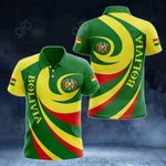 Bolivia Coat Of Arms - Whirlpool Style All Over Print Polo Shirt