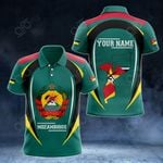Customize Mozambique Map & Coat Of Arms All Over Print Polo Shirt