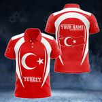Customize Turkey Map & Coat Of Arms All Over Print Polo Shirt