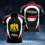 Customize Syria Map & Coat Of Arms All Over Print Polo Shirt