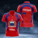 Customize Samoa Map & Coat Of Arms All Over Print Polo Shirt