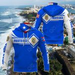 Customize Puerto Rico Map & Coat Of Arms All Over Print Neck Gaiter Hoodie