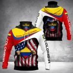 Sons Of Colombia - American Chapter All Over Print Neck Gaiter Hoodie